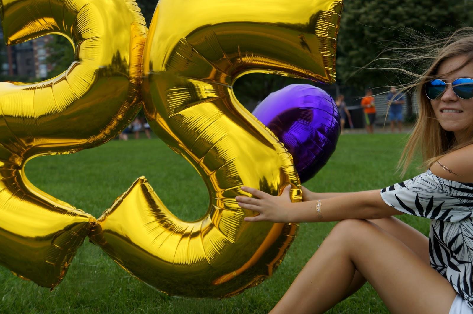 25th birthday balloons
