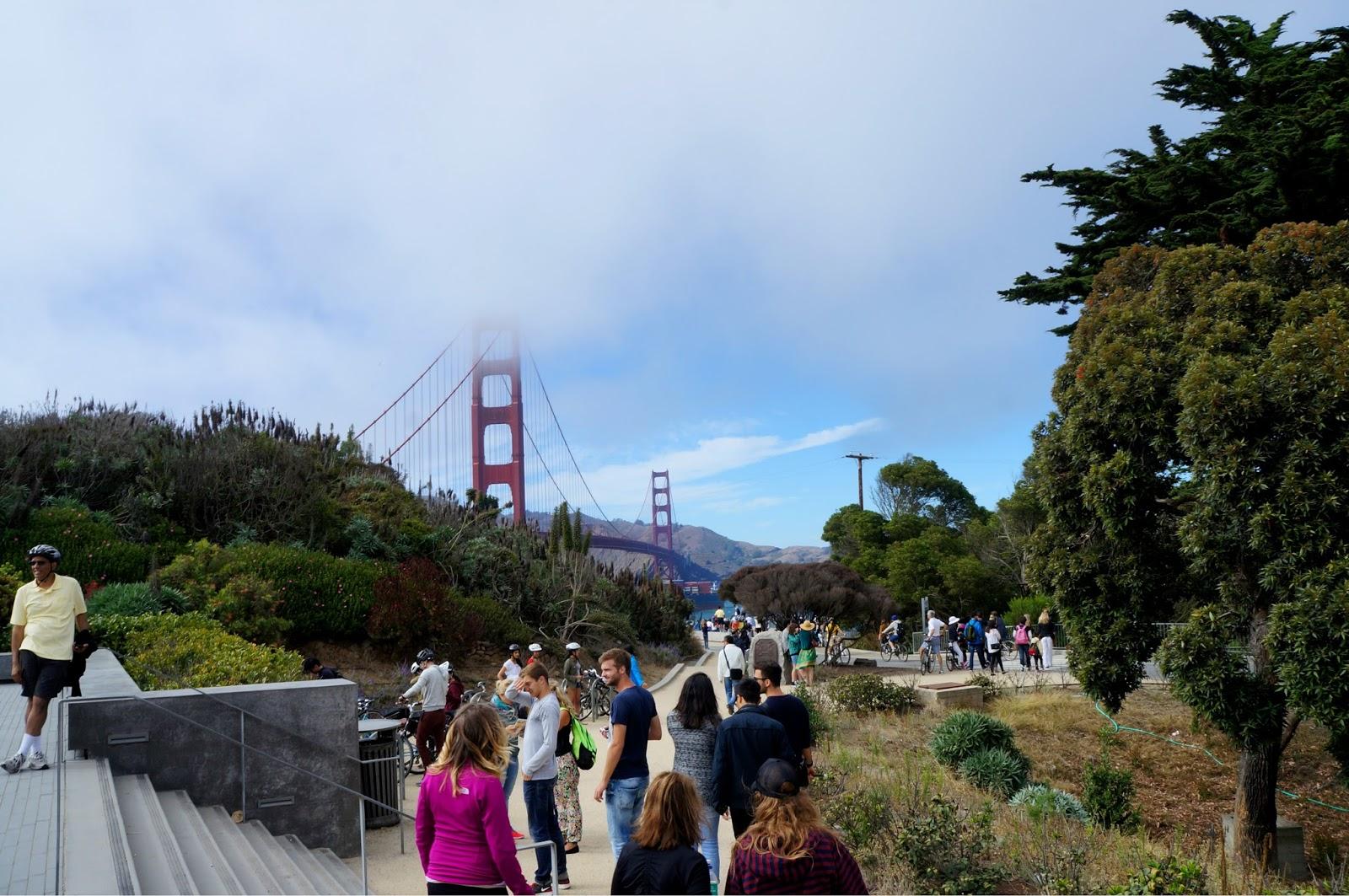 Golden Gate in a fog