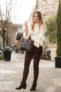 Shein Layered Ruffle Sleeve Sweater