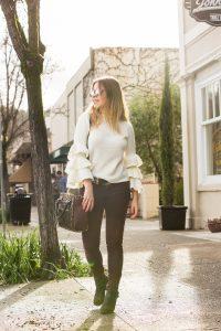 Shein Ruffle sleeve sweater winter style