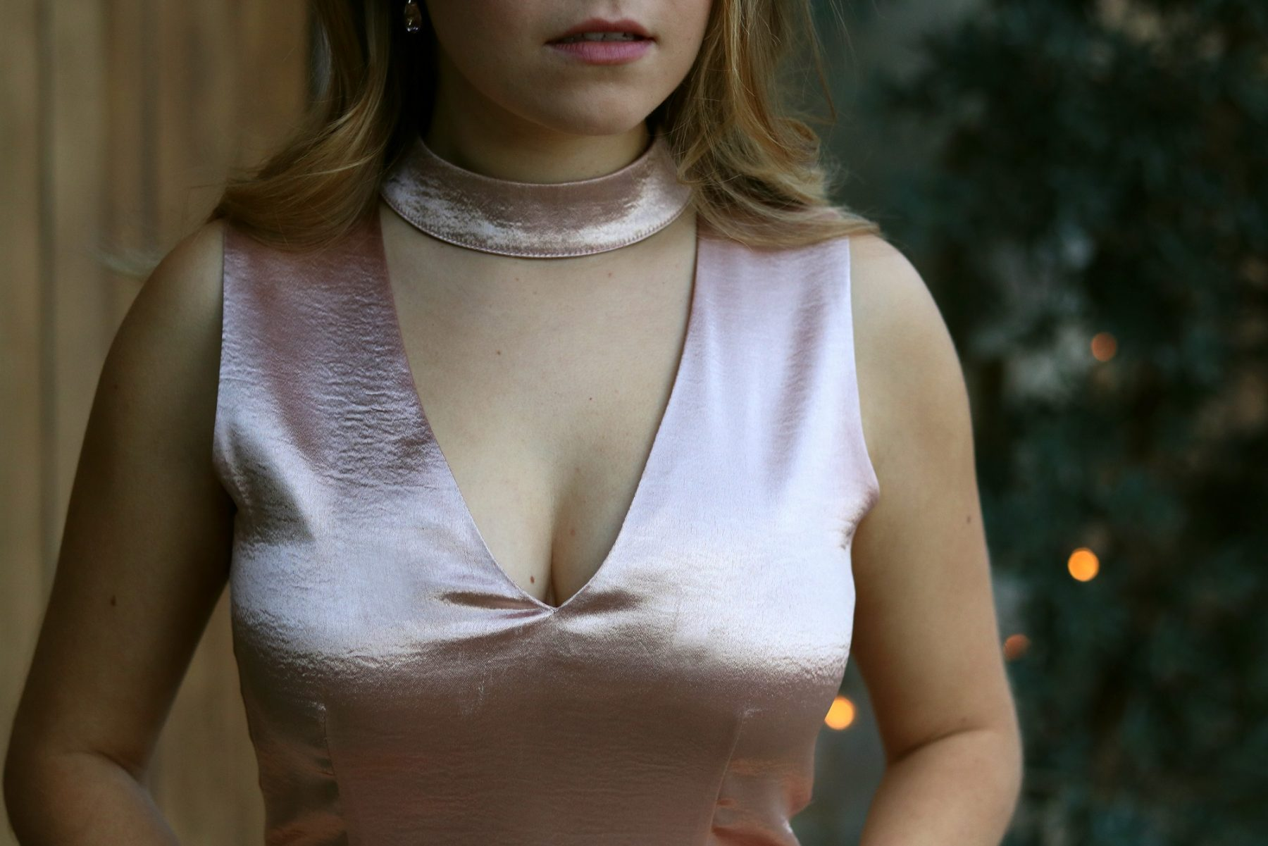 satin-pink-choker-dress