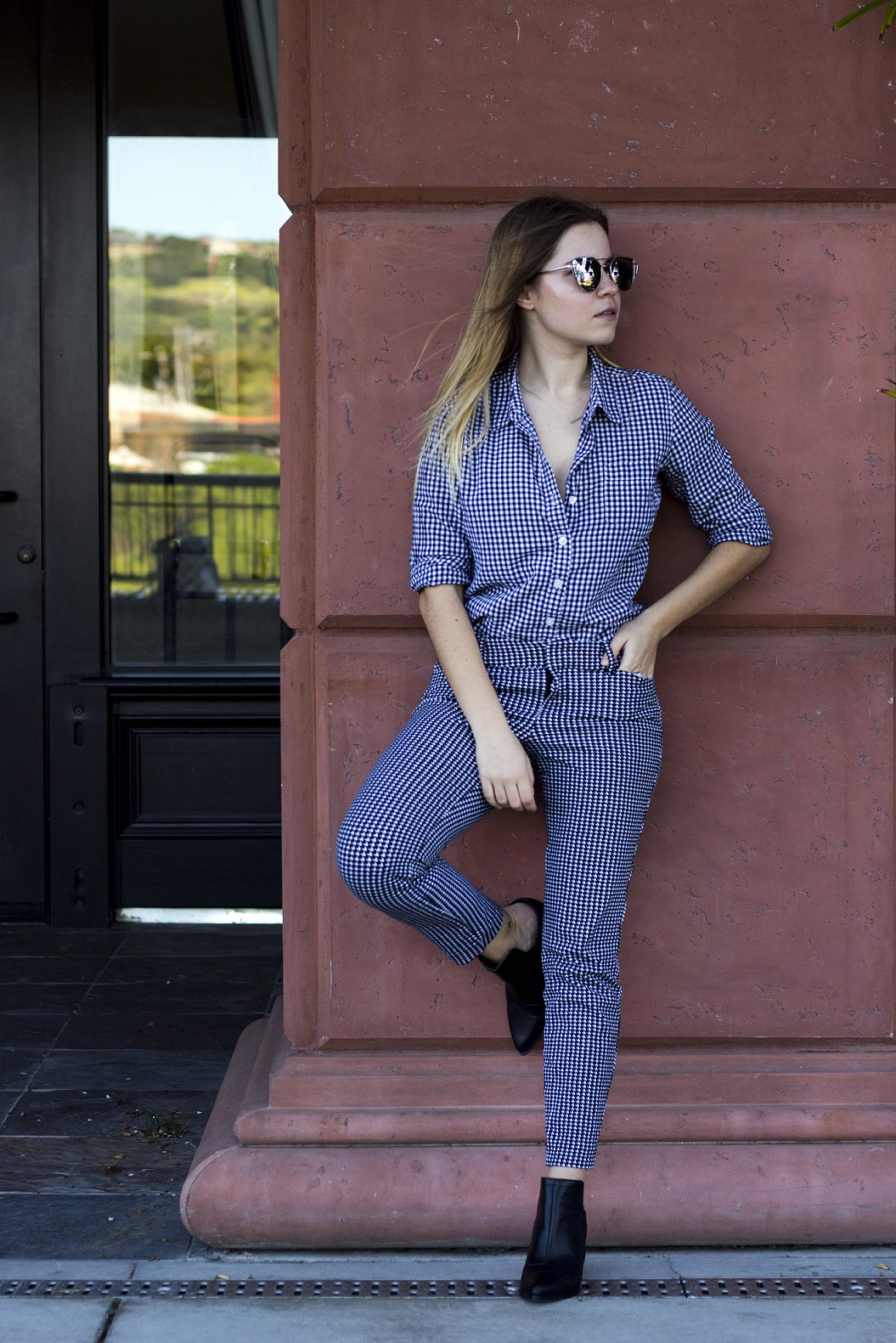 how to wear gingham to work business casual