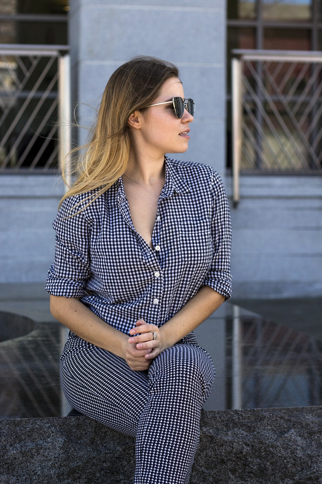 how to wear gingham to work