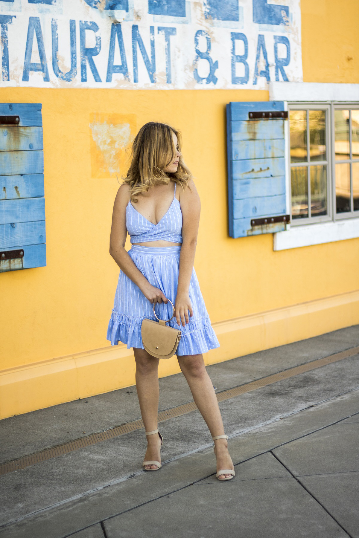 two piece summer dress by Mint Julep boutique on Shenska Napa blogger