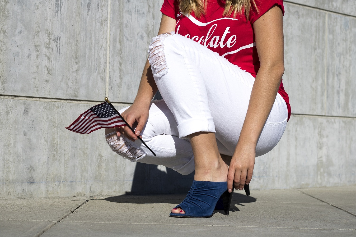 red white blue outfit idea