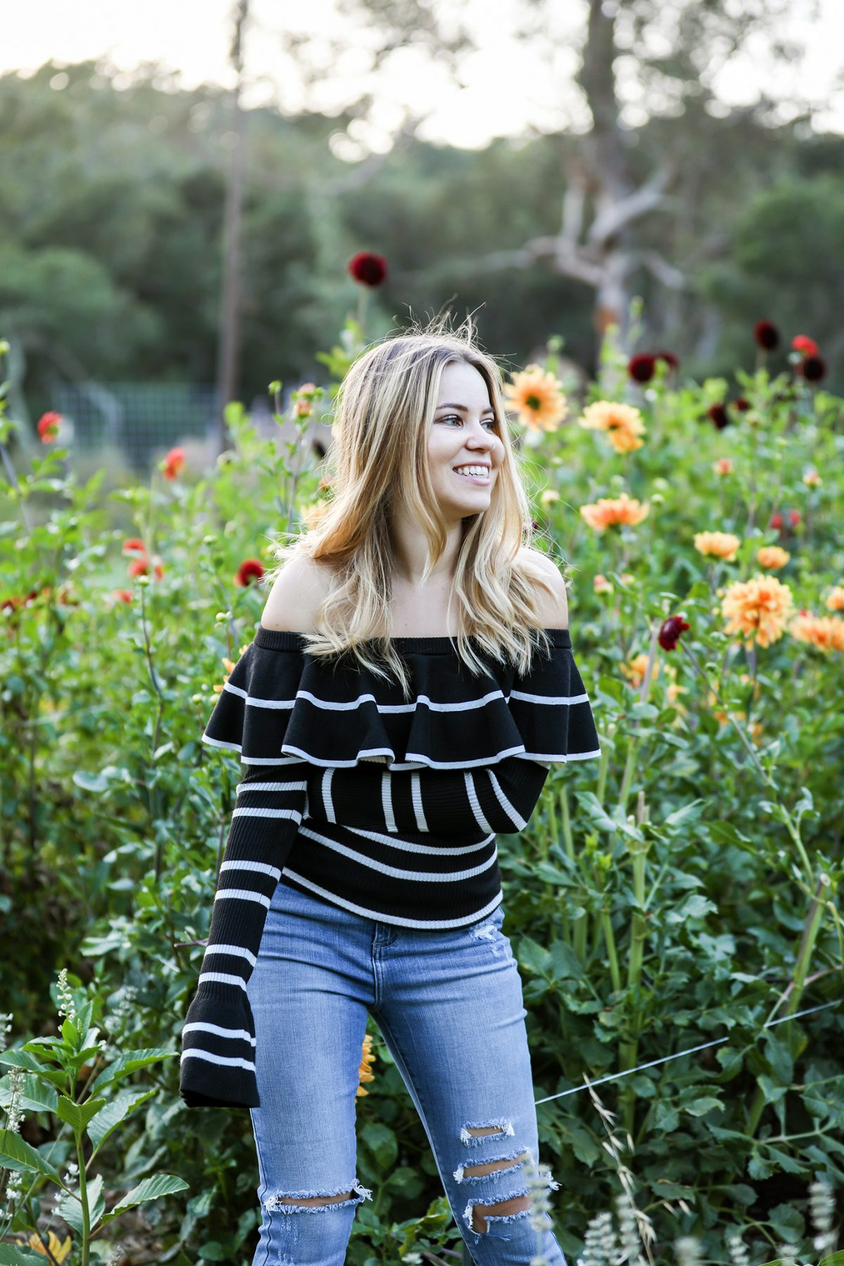 off the shoulder sweater bell sleeves blogging confessions