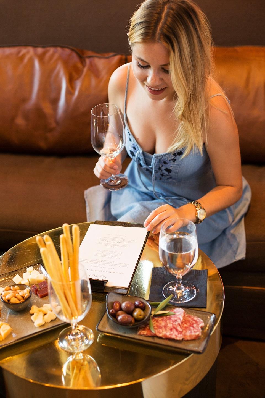 wine tasting with food Trinchero Saint Helena