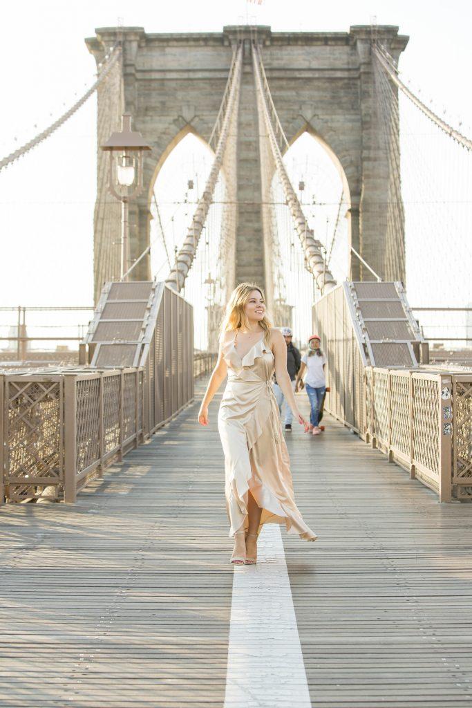 Brooklyn Bridge photo shoot Vici dress