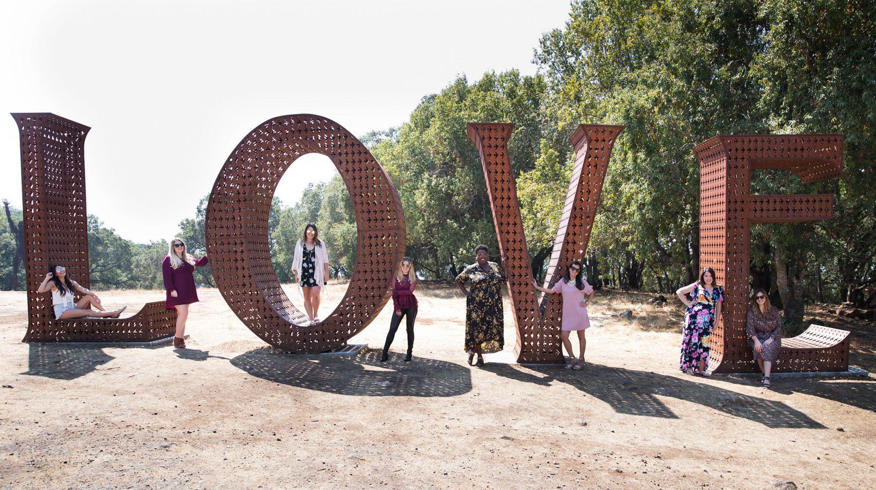 Paradise Ridge love sign Burning Man
