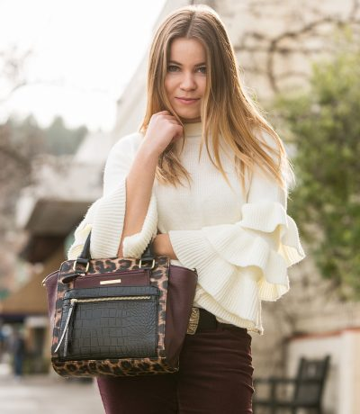 Winter Style: Shein Layered Ruffle Sleeve Sweater
