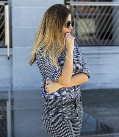 how to wear gingham office wear - Copy