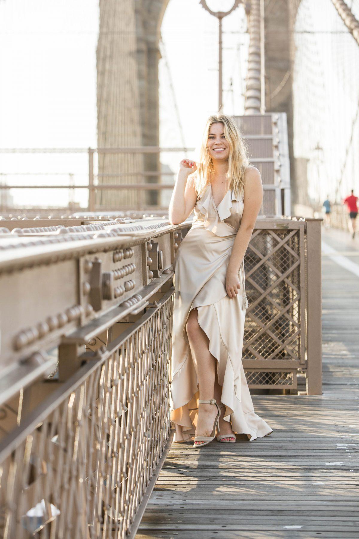Brooklyn Bridge fashion shoot Napa blogger