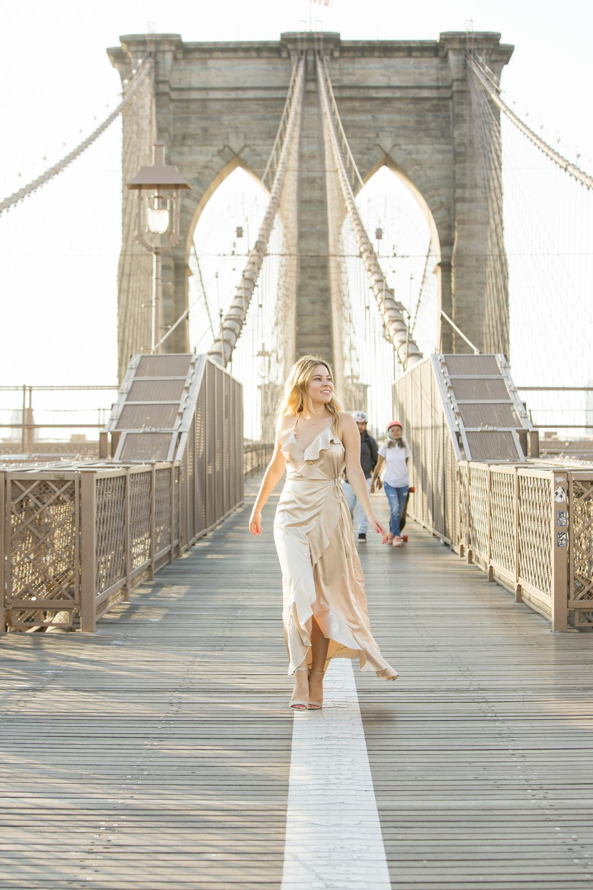 Brooklyn Bridge photo shoot Vici dress