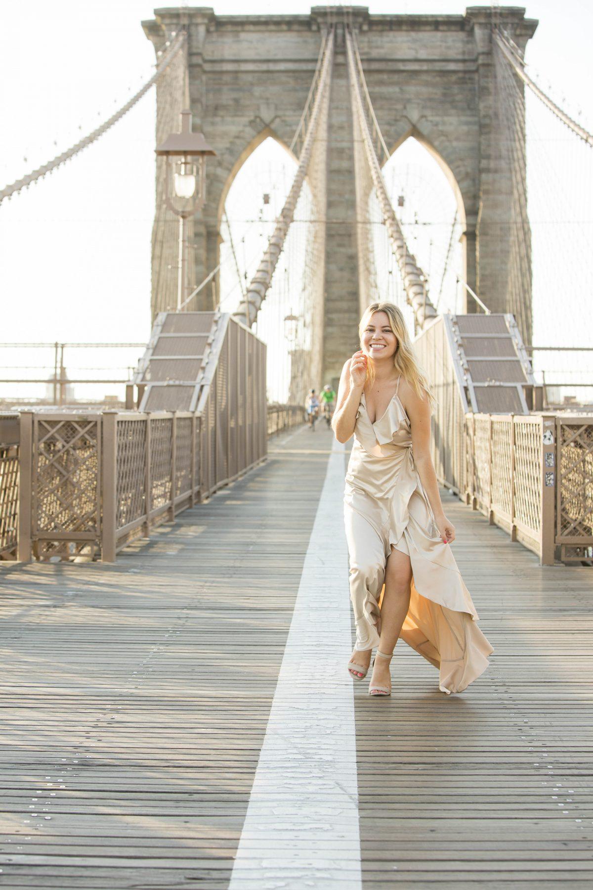 Brooklyn Bridge styled shoot NYFW