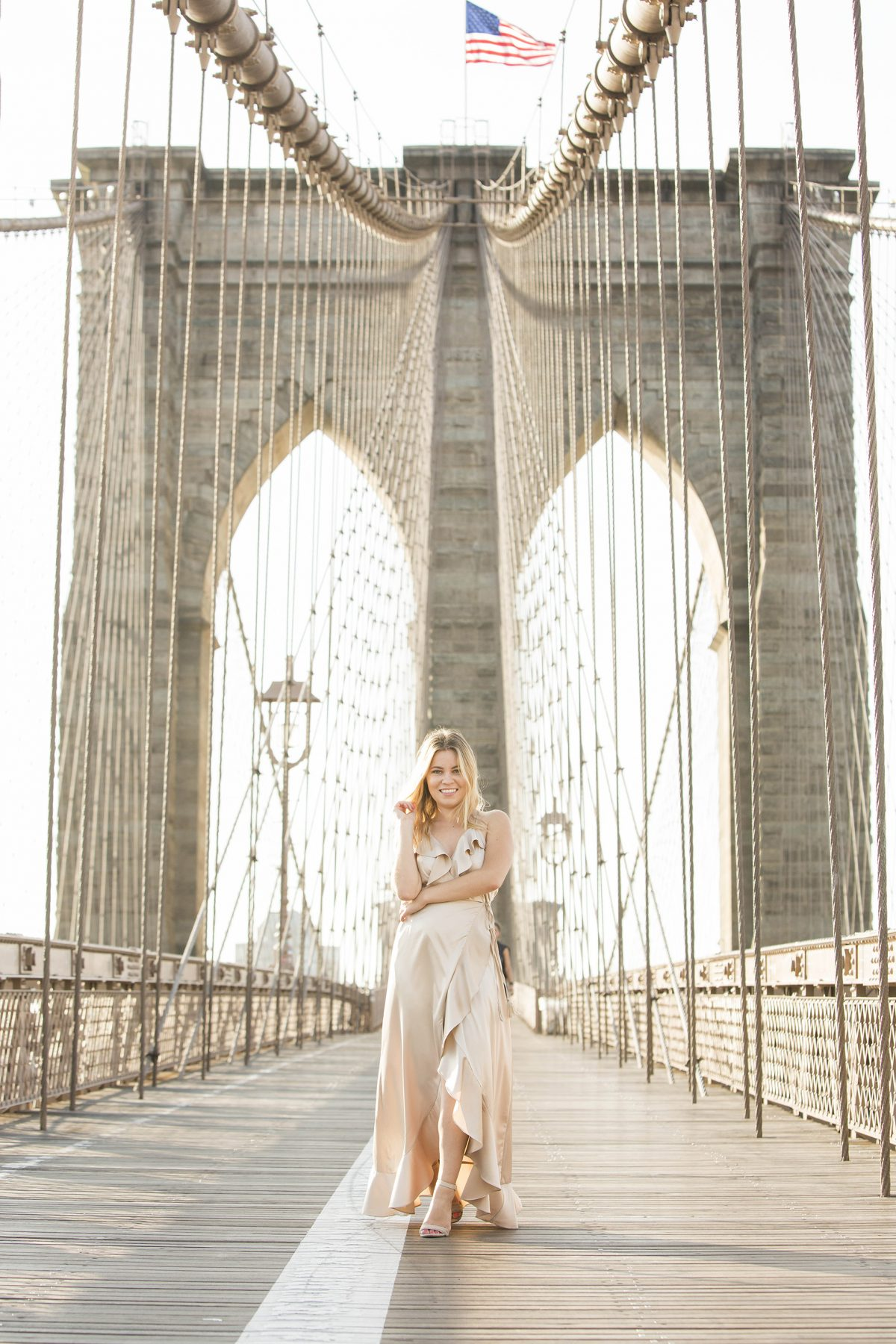 NYFW 2017 Brooklyn Bridge photo shoot