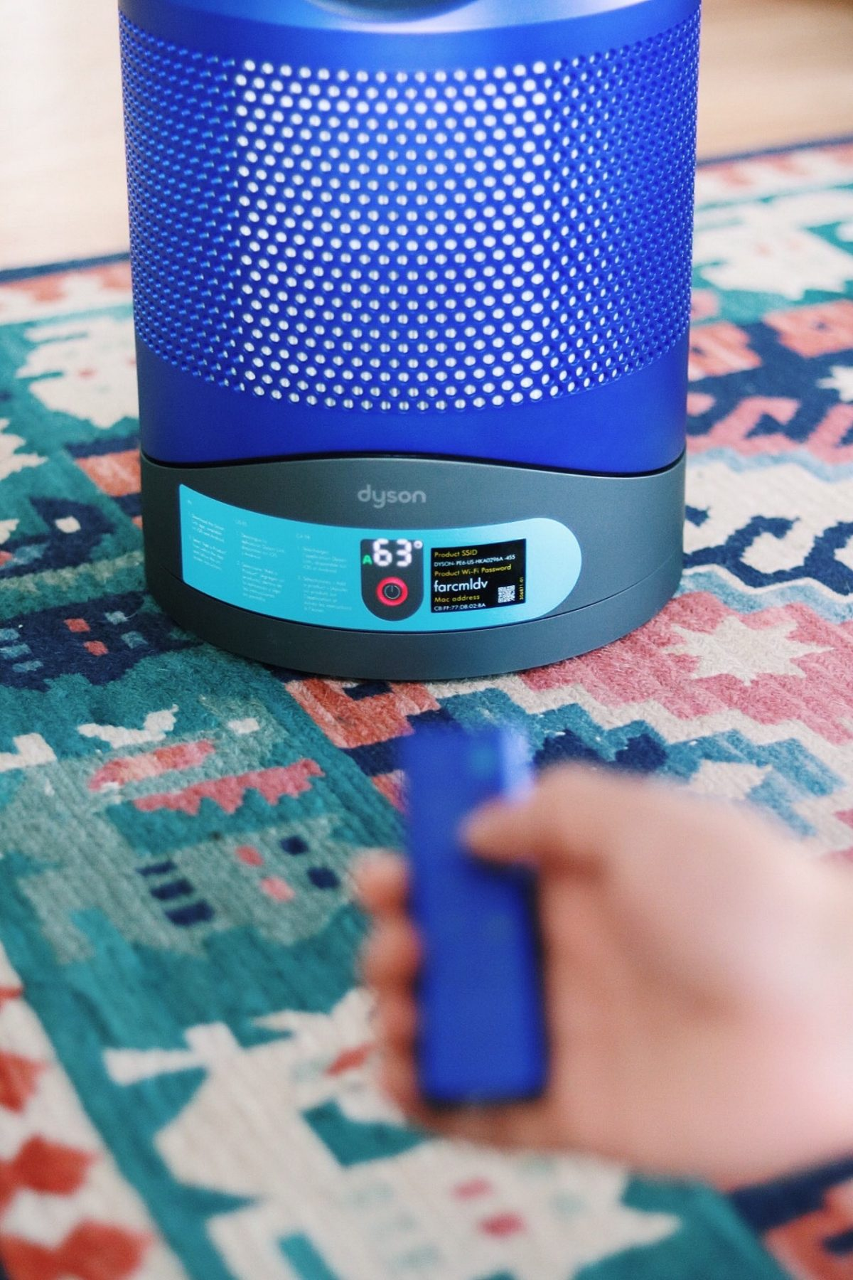 Dyson air purifier with remote