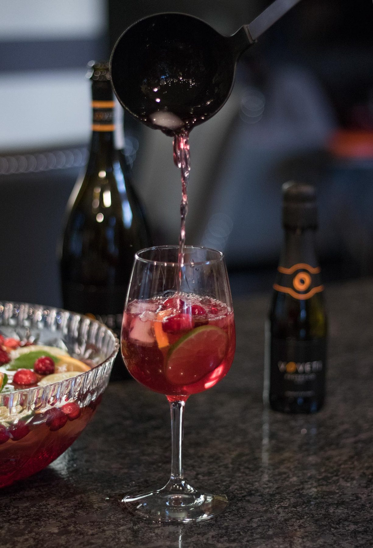 VOVETI prosecco punch for holiday entertaining