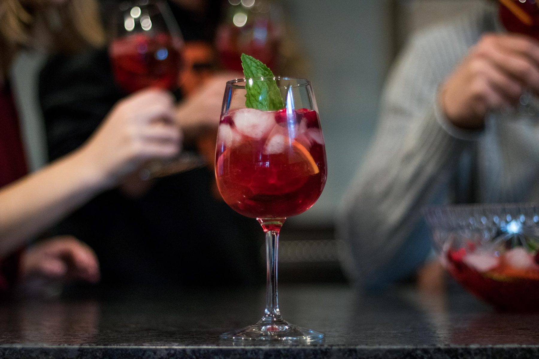 fruit punch with prosecco and vodka holidays