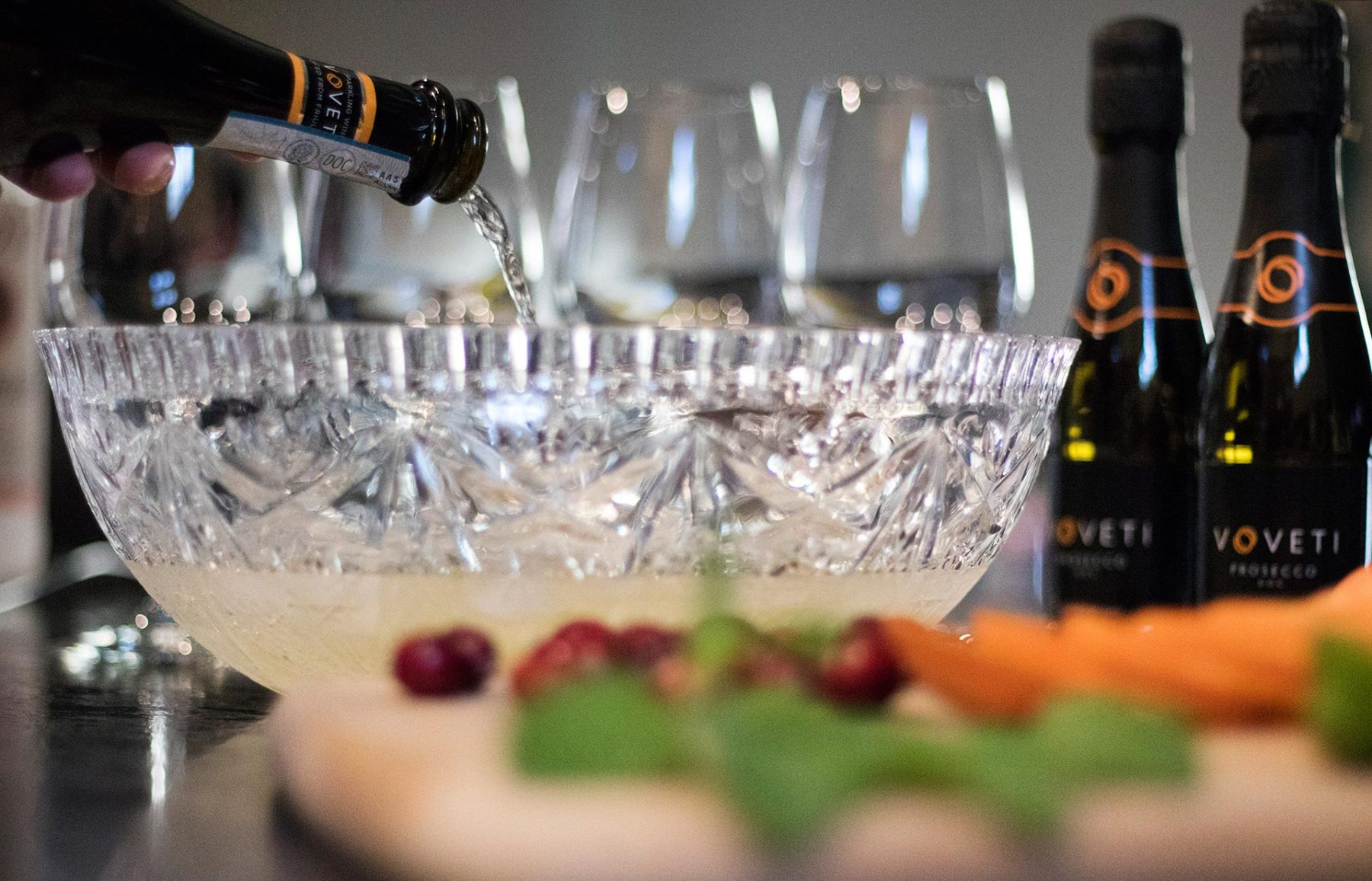 sparkling wine punch entertaining tips