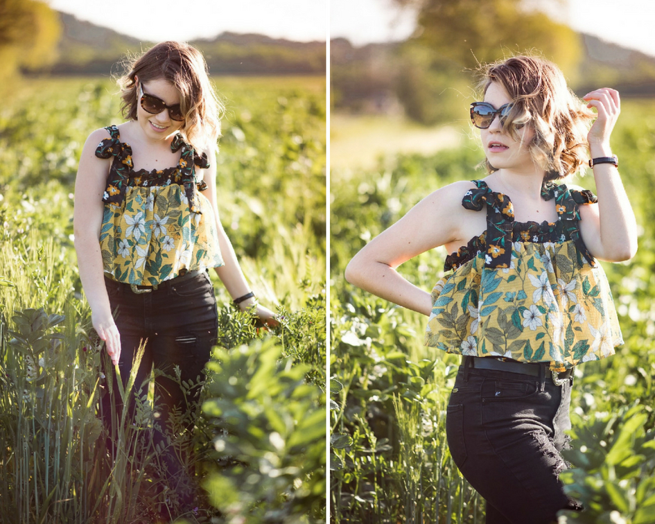Who What Wear spring collection floral top