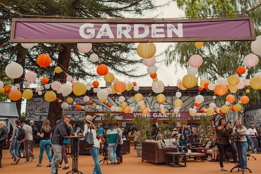 BottleRock wine garden