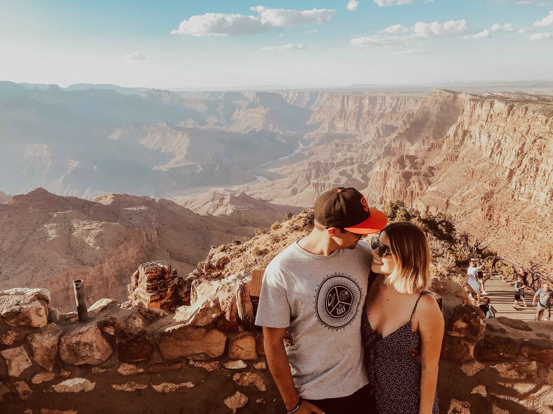 Grand Canyon engagement couple