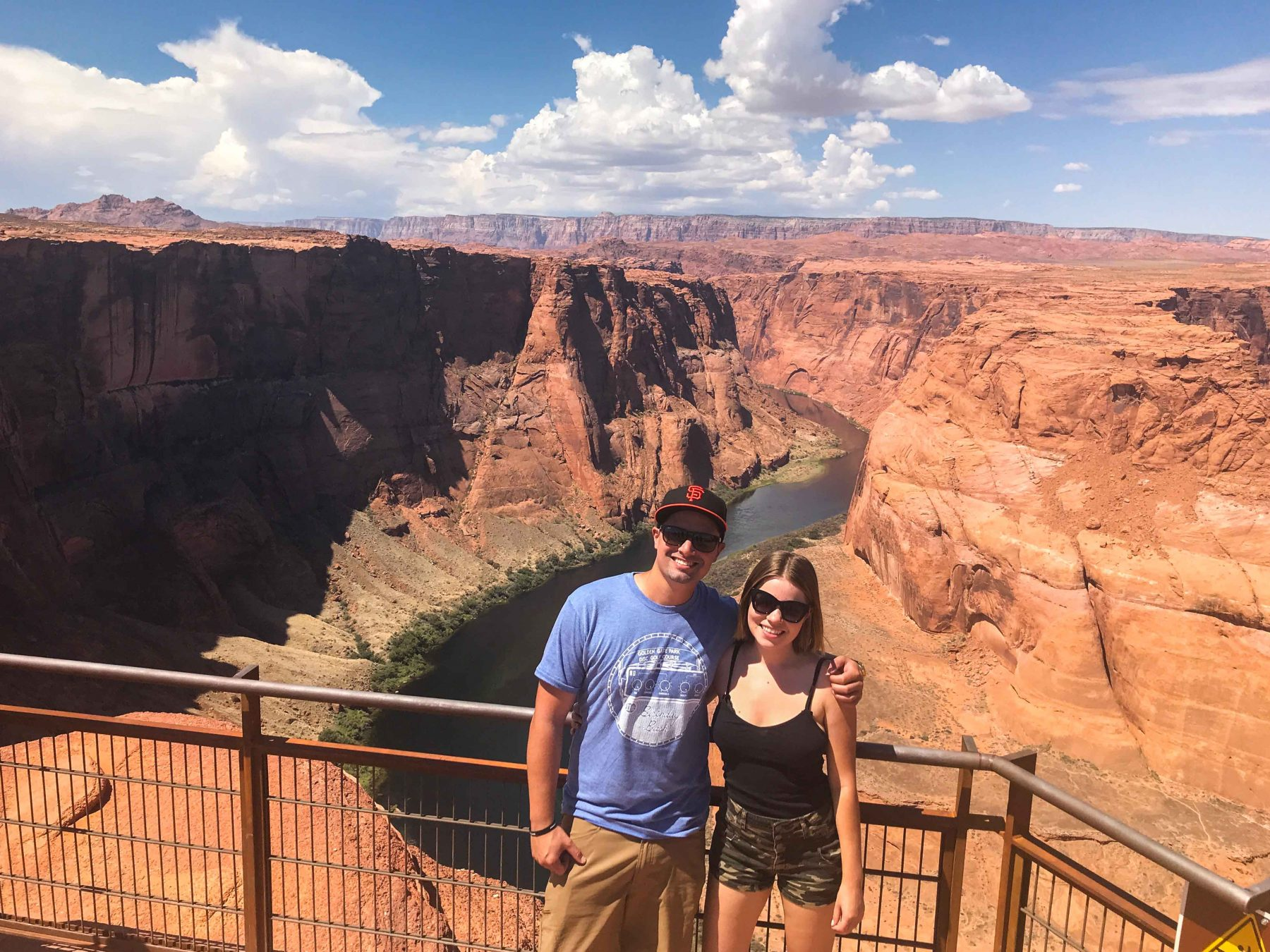 Horseshoe Bend engaged couple