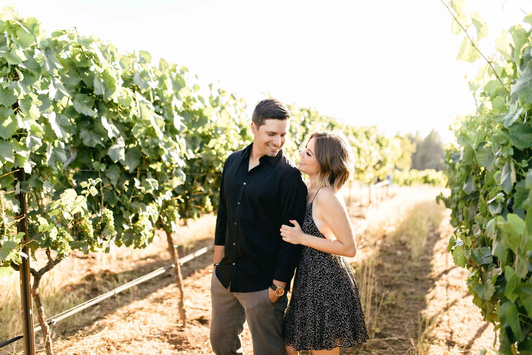 engagement shoot Napa Valley couple proposal story