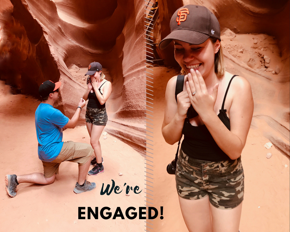 our proposal story engagement in Antelope Canyon