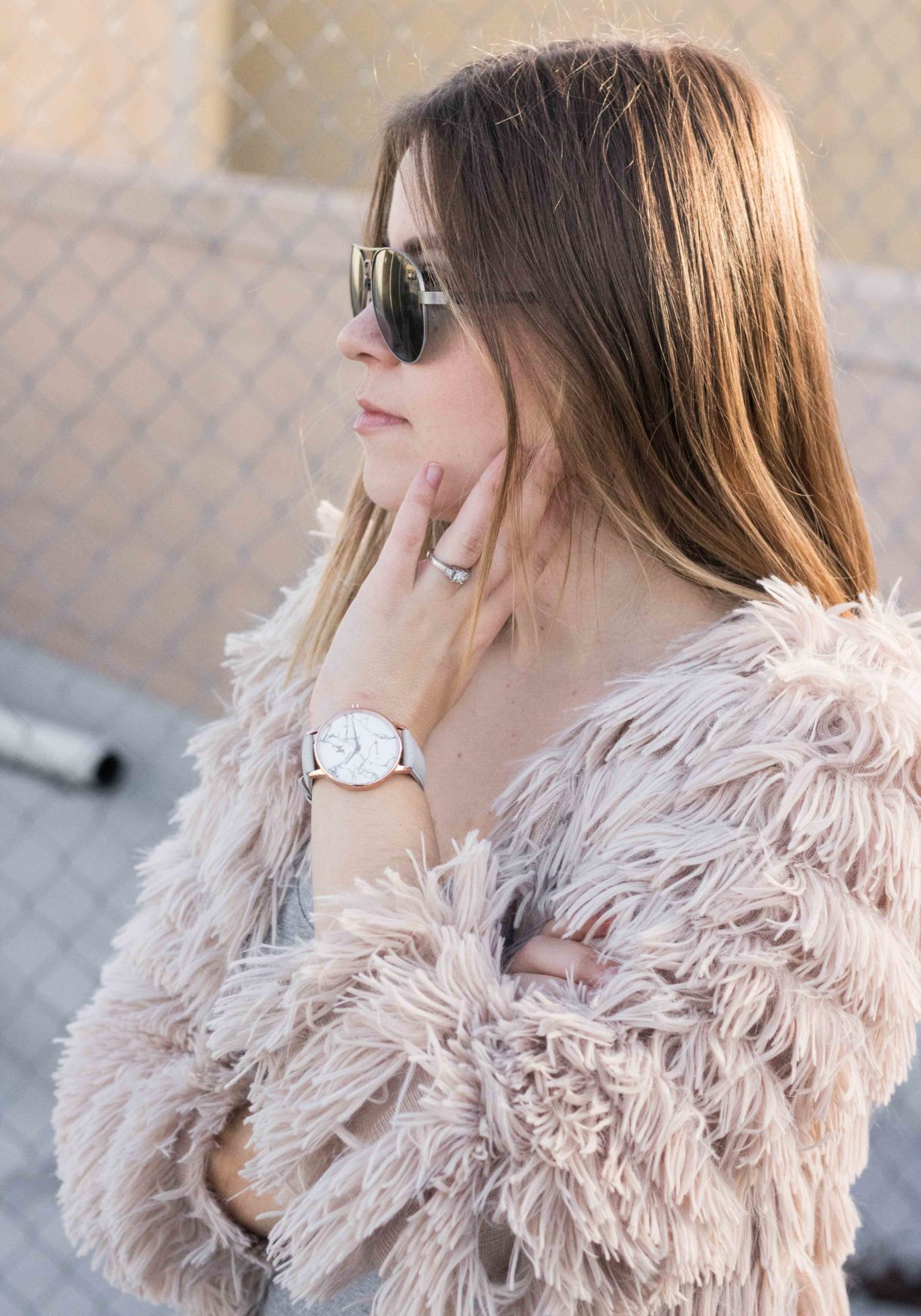 MVMT women marble watch
