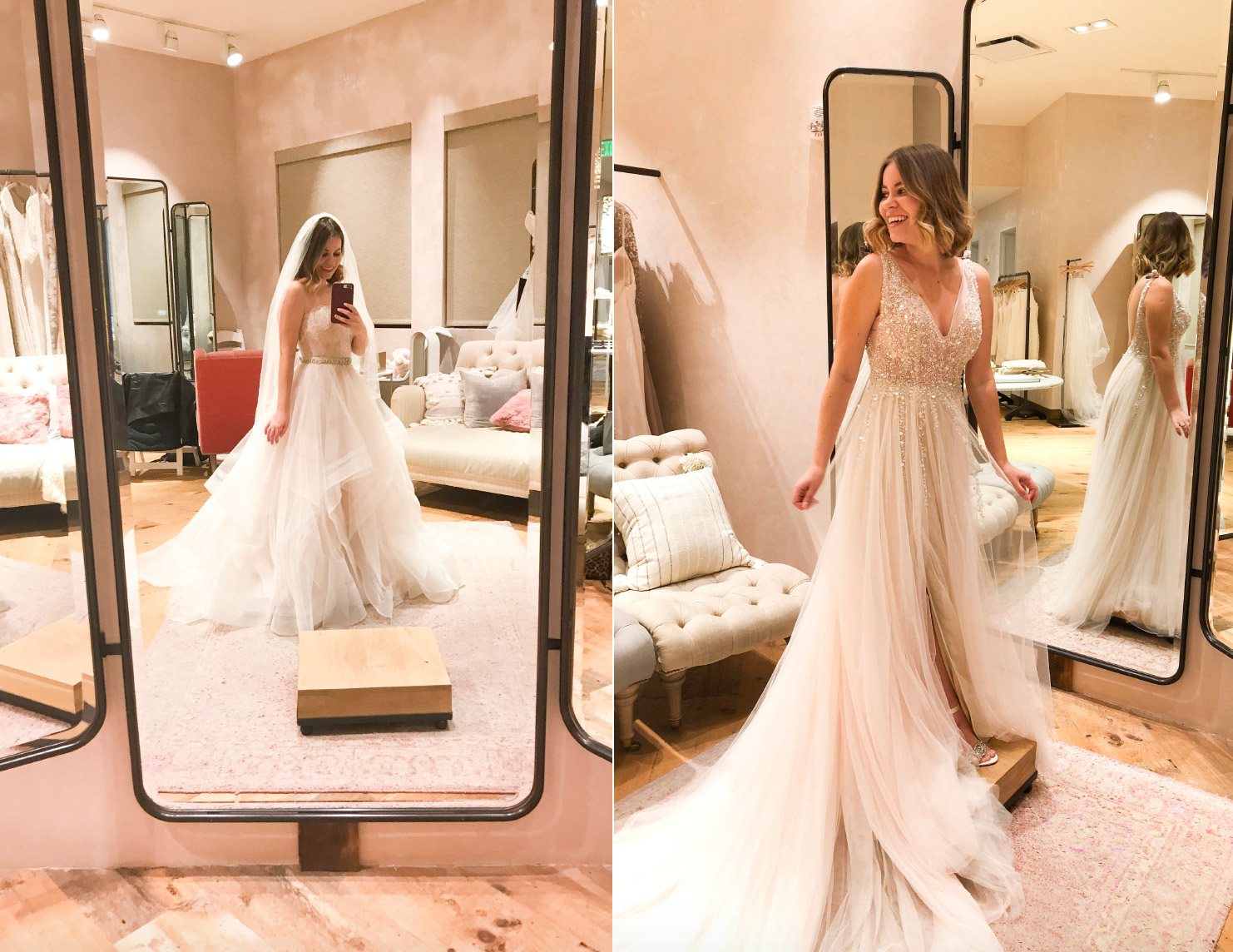 BHLDN affordable wedding dress shopping