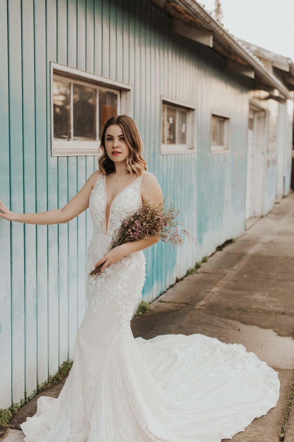 Lyra Vega Bridal Thea gown Napa bride