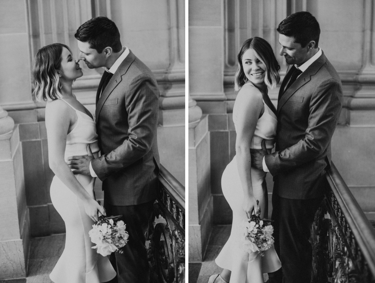 SF City Hall intimate wedding photos