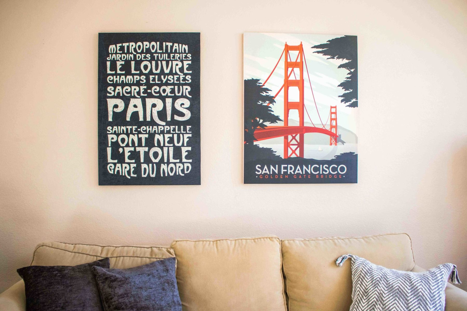 Photowall canvas prints for a modern couple